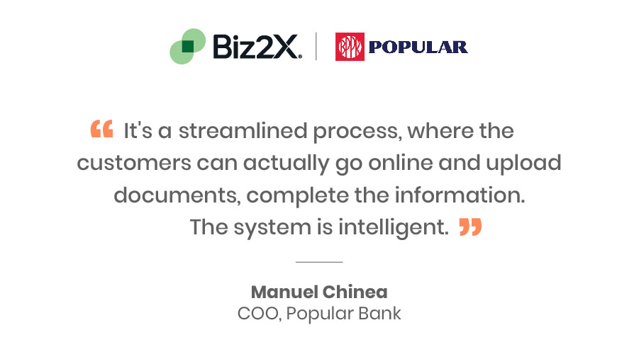 Popular Bank automates lending decisions with Biz2X
